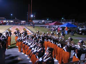 Elizabethton Band warms up